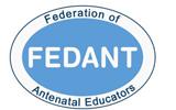 Fedant logo tongue-tie